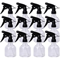 Lawei Lot de 12 Flacons vaporisateurs en verre transparent Bouteille de pulvérisation vide en plastique avec Déclencheur…
