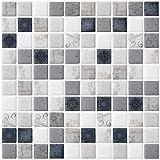 Ecoart Adesivi Decorativi per Piastrelle di Mosaico con Motivi