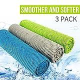Asciugamano Sportivo - Microfibra Asciugamano, Asciugamano Rinfrescante, Asciugamano Ghiaccio - Palestra Asciugamano D'acqua y Asciugatura Rapida per Yoga Beach Golf Viaggi per Uomo Donna (3 pezzi)