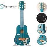 CGRTEUNIE Classique Acoustique 6 Cordes 21 Pouces Guitare En Bois Fait À La Main Ukulélé Rhyme Instrument De Musique De Jouet