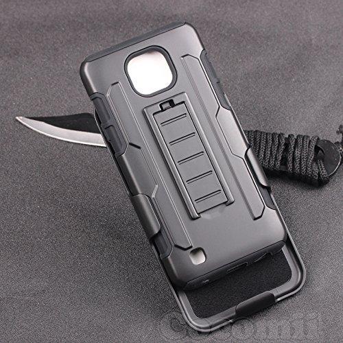 Cocomii Robot Armor LG X Cam Hülle [Strapazierfähig] Erstklassig Gürtelclip Ständer Stoßfest Gehäuse [Militärisch Verteidiger] Ganzkörper Solide Case Schutzhülle for LG X Cam (R.Black)
