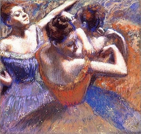 Impression sur bois 80 x 80 cm: Dancer with Raised Arms de Edgar Degas