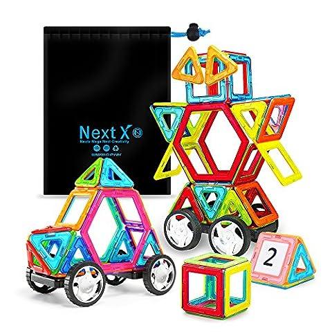 Blocs de Construction Magnétique,NextX 46 Pièces Magnétique Éducatif Jeux de