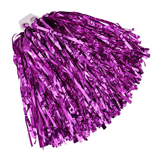 ing Pom Poms Dance Party Kostüm Sport Cheerleader Flower Ball mit Kunststoff Griff, hot pink ()