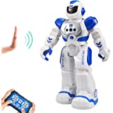 HUSAN RC Robot per Bambini, Robot Intelligente Interattivo Controllo a Infrarossi Programmabili Canto Danza Robot Sensazione