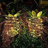 YYQ (2 Pack) Solar Lampe Ananas Garten Lichter Wasserdicht Dekoration Nachtlicht Für Pfad Outdoor Warm Hängende Lichterketten Für Veranda Haus