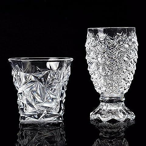 Beer Mug tasse Jus épaissi Whiskey Vin en cristal verre tasse tasse en verre de l'eau classique Beer Cup,Coupe