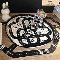 Preisvergleich für Kinderkarte Crawling Mat Spieldecke Highway Ground Map Große Spielzeug Teppich Hängenden Tasche