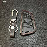 #9: Vomrca Belt Made of Leather Keys Case In The form of A Shell Cover for Bmw 1 2 5 Series 218I F48 X1 X5 X6 F15 3-Black-Bmw-3Jzn1