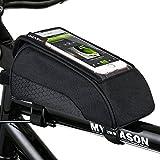 Fahrradtasche Oberrohr, Schnelle Installation & Release Tragbare Fahrradtasche, Touch Screen Handy Tasche für Fahrrad mit Wasserdichtem Material 1600D Nylon