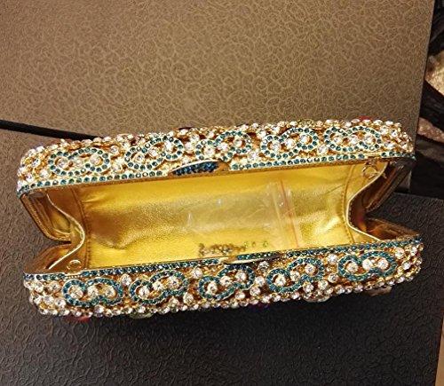 Dinner-Paket Europa und den Vereinigten Staaten Stil aristokratischen Tasche Handtasche Wassertropfen Diamantbohrer 2 Farbe color 2