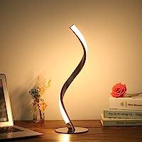 Tomshine Lampe de table spirale LED 6 W 3000 K blanc chaud Lampe de chevet pour chambre à coucher (Blanc chaud)