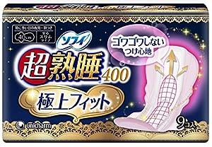 Sofy Sanitary Napkin Ultra-deep Sleep 400 Super Fit Slim 9p by Unicharm