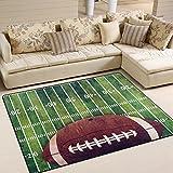 Naanle American Football Field Rutschfester Teppich für Wohnzimmer, Esszimmer, Schlafzimmer, Küche, 50 x 80 cm, Polyester, Multi, 150 x 200 cm(5' x 7')
