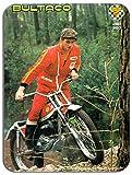 Motocycle Trial Bultaco-Classic-Tapis de souris tapis de souris Martin Lampkin moto