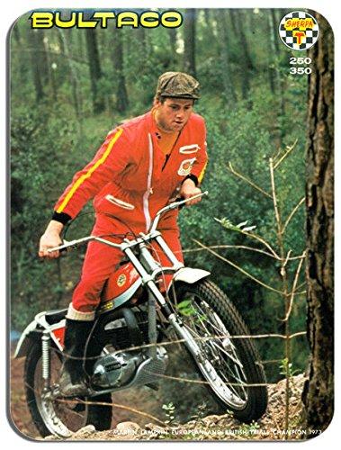 Klassische Bultaco Probe Motorradhelm Mauspad. Martin Lampkin Motorrad Mauspad (Bultaco Motorräder)