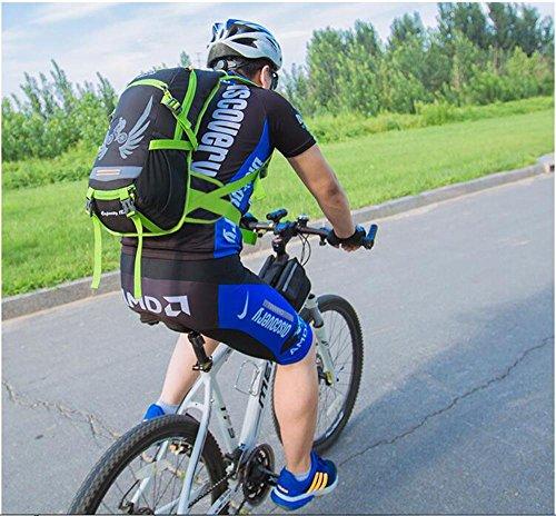HTRPF Fahrrad Rucksack Outdoor Reittasche Herren & Frauen Wasser Tasche Taschen Schulter Rucksack Blue