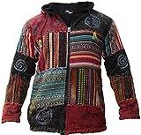 Shopoholic Fashion Unisex: Patchwork Festival Hippie Kapuzenpulli Jacke - Mehrfarbig, M