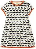 loud + proud Mädchen Kleid, Druck, Blau (Ultramarin Ul), 116 (Herstellergröße: 110/116)