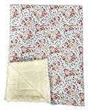 Crepes-Suzette Babydecke Krabbeldecke Ökoteddy und GREENGATE Stoff Paisley Blue Decke für Kinderwagen ca 90 X 70 cm