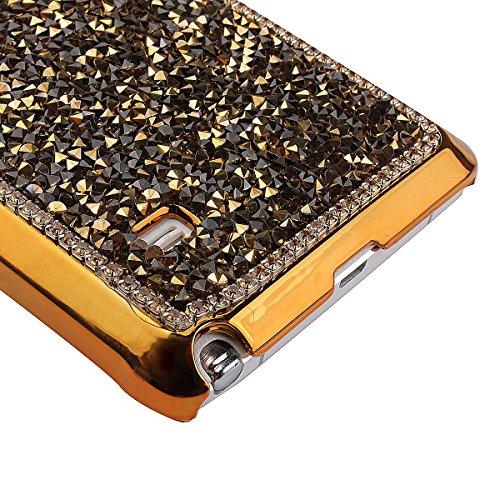 luxe Coque Samsung Galaxy Note 4, Bling Bling Gliter Sparkle Housse pour Samsung Galaxy Note 4,Ekakashop Kreativ Design Anti-choc Shiny Brillant Scintillante Poudre et Paillettes Housse de Protection  D'or
