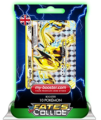 Lugia Karte (LUGIA TURBO 79/124 150HP XY10 FATES COLLIDE - Booster mit 10 Englisch Karten Pokemon my-booster)