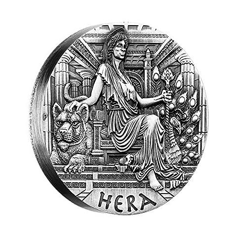 Göttinnen von Olympus - Hera $2 2 Unzen Silber Münze - Tuvalu 2015