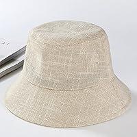 LTQ&qing Srta. Hat sombrero de sol de algod¨®n color s¨®lido sombrero de protecci¨®n solar al aire libre , A , m (56-58cm)