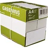 Liderpapel - Papel Fotocopiadora Greening Din A4 80 Gramos Caja de 5 Paquetes de 500 Hojas
