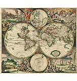Puzzle House- Jigsaw Puzzle in Legno, Mappa del Mondo Antico, Dettagli Fini, Taglio Perfetto e Perfetto, Basswood 520 Pezzi Puzzle in Scatola Giochi Arte Pittura per Adulti e Bambini -411
