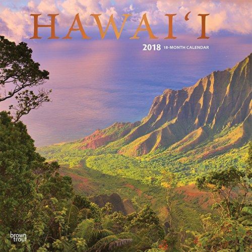 Hawaii 2018 - 18-Monatskalender mit freier TravelDays-App: Original BrownTrout-Kalender [Mehrsprachig] [Kalender] (Wall-Kalender)