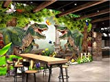 Weaeo Benutzerdefinierte Wandbild 3D Fototapete Dinosaurier Natur Wald Baum Landschaft Wohnkultur 3D Wandbilder Tapete Für Wohnzimmer-280X200Cm