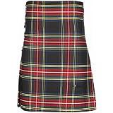 The Scotland Kilt Company 8 Yard Scottish Tartan Kilt with a Free Kilt Pin Included