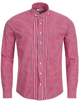 Almsach Trachtenhemd Slim Fit in Rot