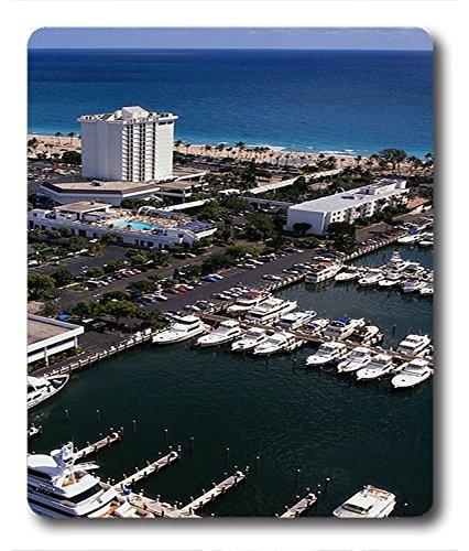 Maus Pads/Maus Matten Yacht Hafen von Miami City PC Custom Maus Pads/Maus Matten Schutzhülle