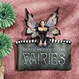 Design Toscano Dont Piss Off the Fairies Wall Plaque
