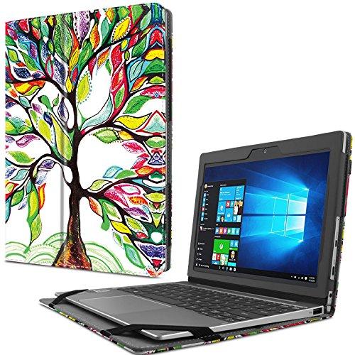 Infiland Lenovo MIIX 320 Hülle Case Slim dünne Schutzhülle Cover Tasche für Lenovo MIIX 320 (mit Auto Schlaf/Wach Funktion, Nicht enthalten Tablet und Tastatur)(Fröhlicher Baum)