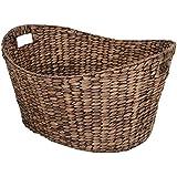 Harbury Extra Large Oval Rattan Storage Basket / Laundry Basket in Brown