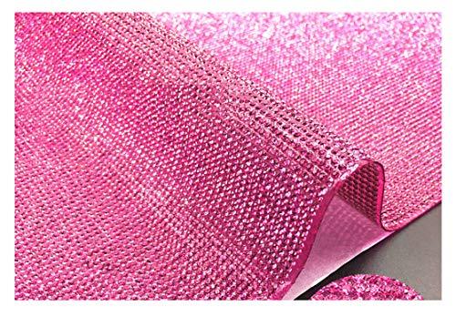 DIY Bling Kristall Strass Auto Handy Mobile Dekoration Aufkleber Gems Scrapbooking Verzierungen hot pink