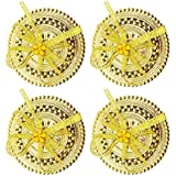 Fully Handicrafts Of Kumkum And Sindoor Daani For Women And Ladies, Golden, Set Of 4, Pack Of 1