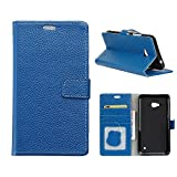 MOONCASE Lumia 640/640 LTE Hülle, Magnetisch Leder Tasche