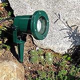 Erdspießleuchte, Außenstrahler mit Erdspieß, grün, 2,5 mtr. Zuleitung, Gartenstrahler, Spot, Aluminiumgehäuse, GU10