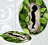 StickerProfis 'Sedile WC adesivi pissoir Design Schermo parete per WC stanza incl. 2adesivi per piastrelle
