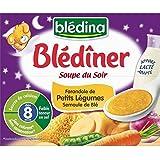 Blédina blédiner soupe petits légumes et semoule de blé 25 cl x 2 dès 8 mois - ( Prix Unitaire ) - Envoi Rapide...
