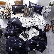 King Size 6 Pieces Bedding Set Galaxy Design