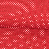 Baumwolljersey Mini Tupfen rot Modestoffe Kinderstoffe