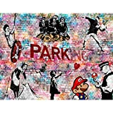 Tapeten Fototapeten Banksy Kollage - Vlies Wand Tapete Wohnzimmer Schlafzimmer Büro Flur Dekoration Wandbilder XXL Moderne Wanddeko - 100% MADE IN GERMANY - 9389010c