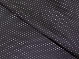 Spotty gemustert Viskose Futter Kleid Stoff schwarz und