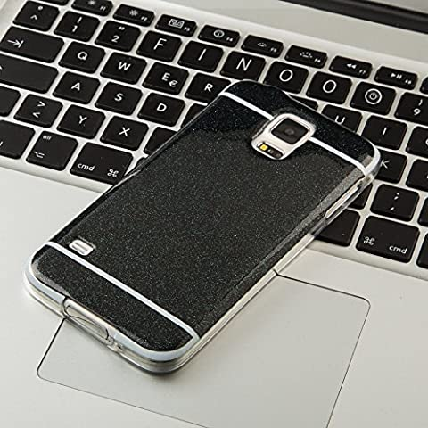 FINOO ® | Handyhülle Glitzer Bling Bling TPU Bumper Case Weiches Silikon Schutzhülle für SAMSUNG GALAXY S5 Mini