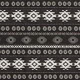 Fabulous Fabrics Deko und Möbelstoff Jaquard Etnico – schwarz — Meterware ab 0,5m — Oeko-Tex Standard 100 — zum Nähen von Homeaccessoires, Stuhlauflagen und Sitzgelegenheiten